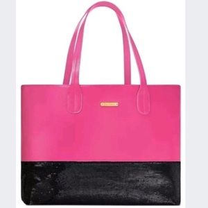 NWT Juicy Couture Hot Pink & Black Sequin Tote Bag